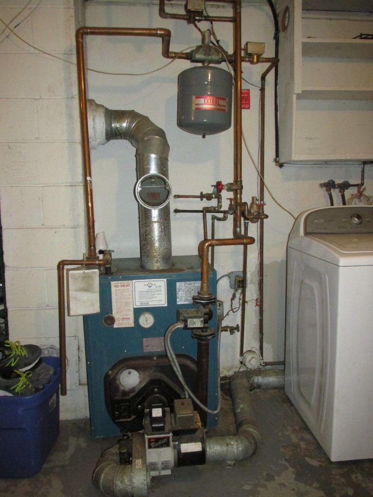 Boiler in garage